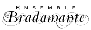 black Ensemble Bradamante logo, white background